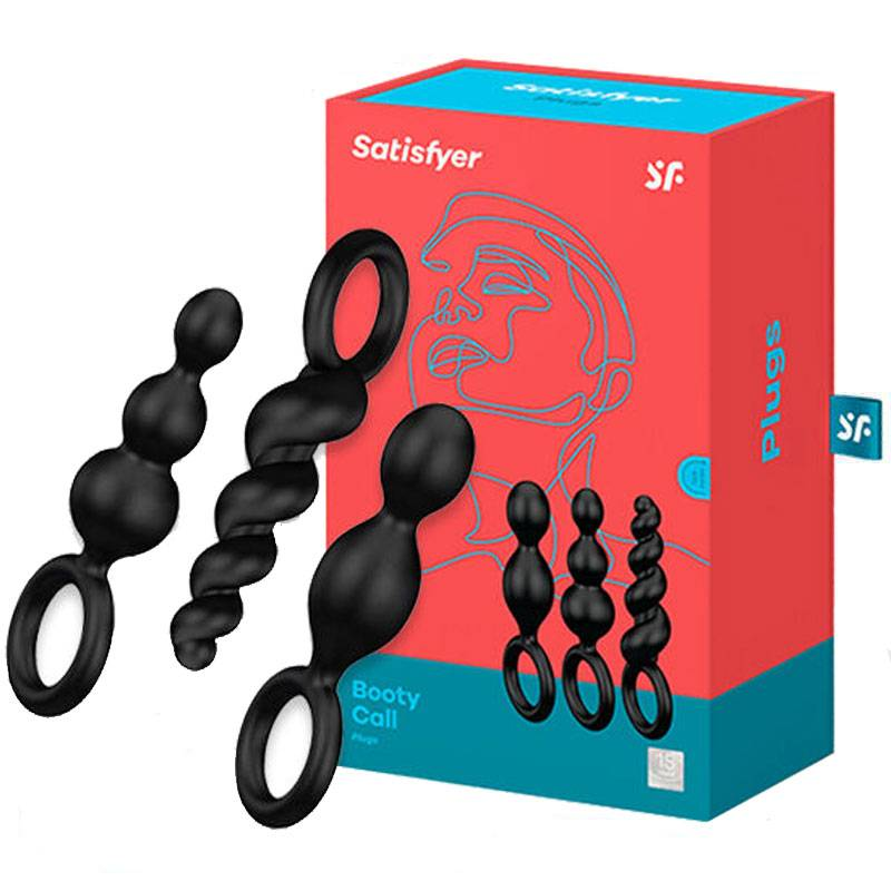 Pack 3 Plugs Anales Satisfyer color Negro